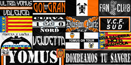 valencia cf flags and banners