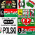 Legia Warsaw flags and banners