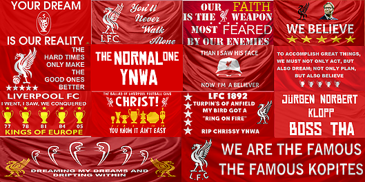 liverpool fc flags and banners